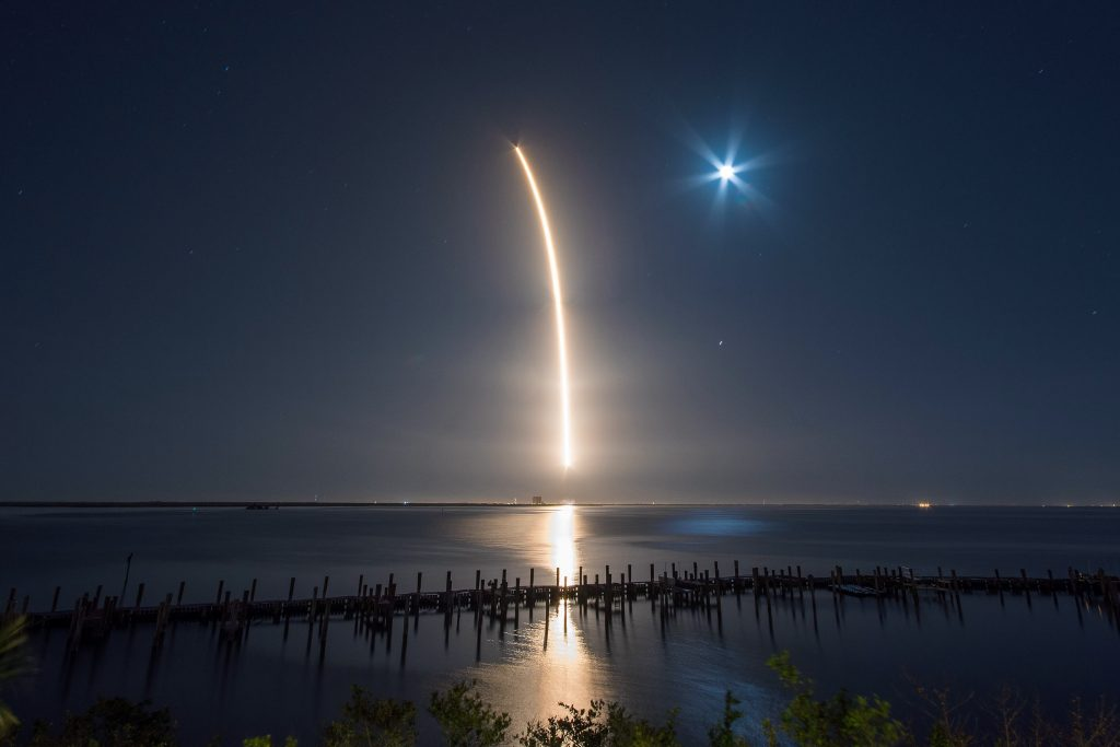 Timelapse of Falcon Launch