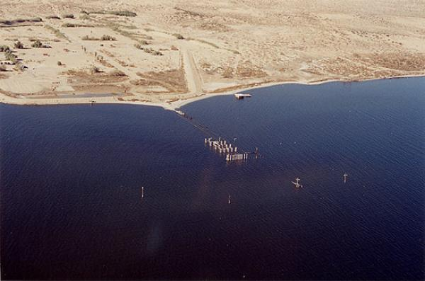 View of Salton Sea base