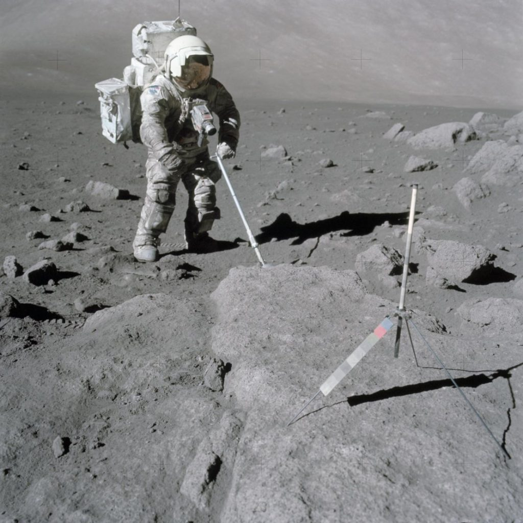 Harrison Schmitt collects samples