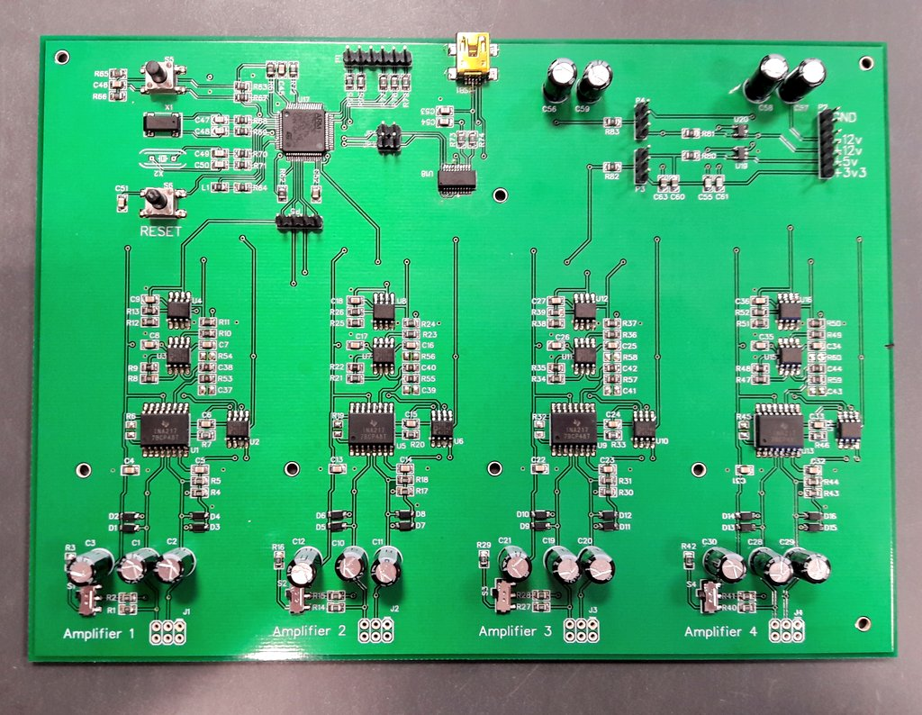 Electronics World Of Indie Miniature Motor Controller By Lm317 Electronic Projects Circuits The Final Board For Our Masters Project Contains Four Amplifier Sections Microphones And A Micro With Usb Interface